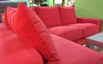 Sofa con Chaislongue Exposición
