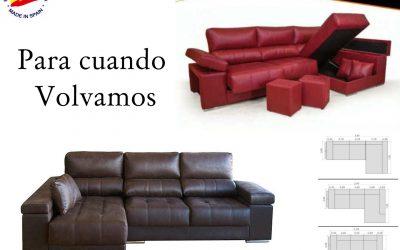 Sofa chaislongue ya estamos de vuelta